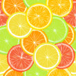 Royalty-Free Stock Photo: Seamless pattern with citric slices