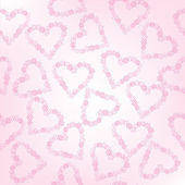 Whimsical floral hearts, seamless pattern — Stock Photo