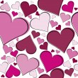 Seamless pattern with pink hearts — Stock Photo #4683542