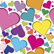 Stock Photo: Seamless pattern with pink hearts