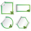 Set of stickers with clovers — Stock Photo