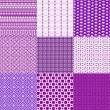 Set of nine backgrounds in violet and white — Foto Stock