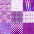 Set of nine backgrounds in violet and white — Zdjęcie stockowe