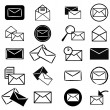 Set of e-mail icons — Stock Photo