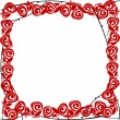 Stock Photo: Stylized roses frame