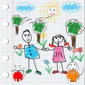 Projeto dos desenhos animados com doodle elementos — Fotografia Stock