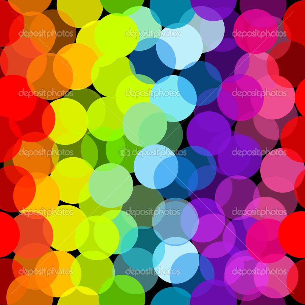 Seamless pattern in rainbow colors — Stock Photo ...