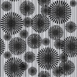 Stock Photo: Black and white seamless pattern