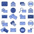 Royalty-Free Stock Photo: Set of blue e-mail icons