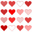 Set of hearts — Stockfoto