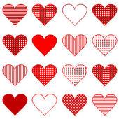 Set of hearts — Stock Photo