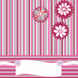 Greeting card with stripes, flowers and place for your text — Stock Photo #5014110