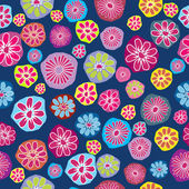 Floral background, seamless pattern with colored flowers — Stock Photo