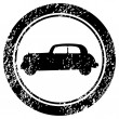 Grunge stamp with old car — Stock Photo