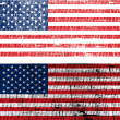 Royalty-Free Stock Photo: USA flags with old fabric grunge effect