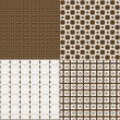 Set of four backgrounds in brown tones — Foto de Stock