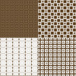 Set of four backgrounds in brown tones — Stock Photo