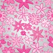 Stock Photo: Pink stylized flowers on grey backgorund
