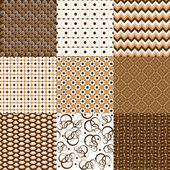 Set of backgrounds and textures in brown tones — Stock Photo
