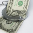 Close-up handcuffs and money — Stock Photo #4003078
