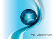 Abstract blue vector background — Stock Vector