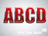 Vector Chrome Alphabet — Stock Vector