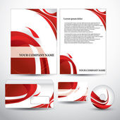 Vector stationery set eps10 — Stockvektor