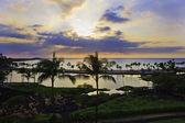 Anae'hoomalu bay, Hawaii, at sunset — Foto Stock