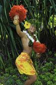 Havajské hula tančili dospívající dívka — Stock fotografie