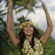 Portrait of a hawaiian hula dancer — 图库照片