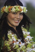 Portrait of a hawaiian hula dancer — Stock Photo