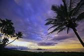 Lanikai beach at dusk — Stock Photo