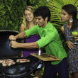 Friends at a barbecue party — Stock Photo #4891326