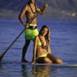 Couple on a paddleboard — Foto Stock