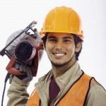 Asian hard hat worker — Stock Photo #5138080