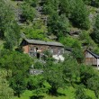 Traditional wooden houses near Geiranger, Norway — Stock Photo #4045697