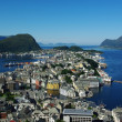 Aerial view of the sity Alesund, Norway — Stock Photo