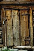Close-up image of ancient wooden door — Stock Photo