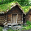Ancient wooden huts — Stock Photo