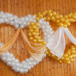 Wedding ornament from balloons — Stock Photo #4216460