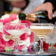 Champagne on wedding - Stock Photo