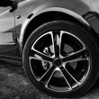 Stock Photo: Forward wheel of car