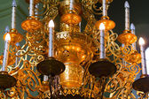 Chandelier in a temple — Stock Photo