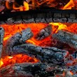 Burning coals on a grill — Stock Photo #4820439