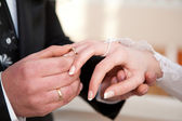 Hands with rings — Stockfoto
