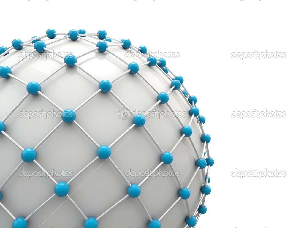 Global network concept 3d render  Stock Photo #5371099