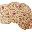 Stock Photo: Round handmade colored mats