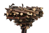 Decorative nest — Stock Photo