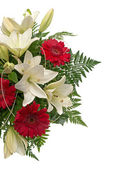Detail of bouquet of flowers — Stock Photo