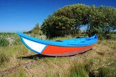 Barevné rybářské lodi — Stock fotografie